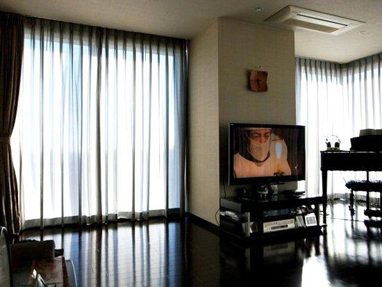 眩しさ低減効果でテレビが見えます