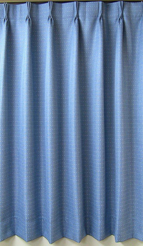 遮熱加工デニム地調ドット無地遮光カーテン