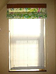スリムシェードウォールフィッター・遮熱レース(IP0038)適用・出窓の西日状況