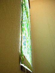 スリムシェードウォールフィッター・前面マリメッコケサント適用・壁面フィット状況
