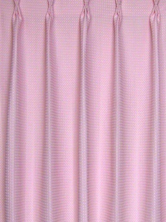 ワッフルカーテン・ピンク